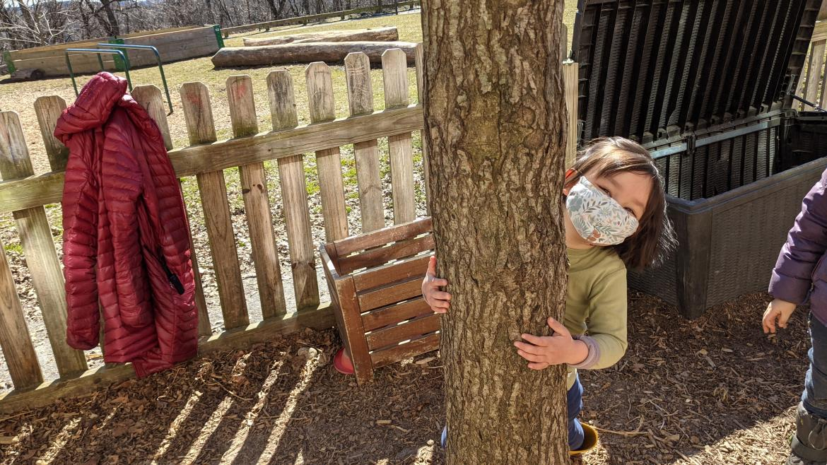 Experience bread baking in the Children's Garden during our Parent & Child Classes.